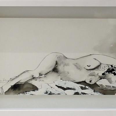 UNTITLED V,32X20 cm,12.6x7.9 in,Tinta sobre papel