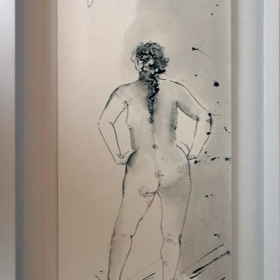 UNTITLED Vl ,35 x 15 cm, 13.8 x 5.9 in,Tint sobre papel