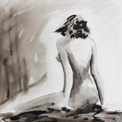 A ESPALDA ,Tinta sobre papel