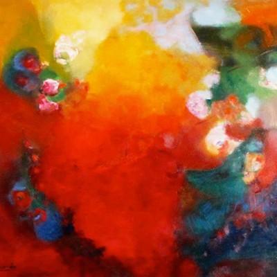 ALEGRIA ll 100 x 120 cm, 39.4 x 47,2 in,Oleo sobre lienzo