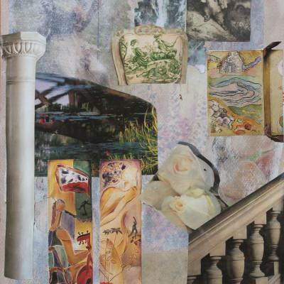 GARDENS collage 86x60cm,34x24 In