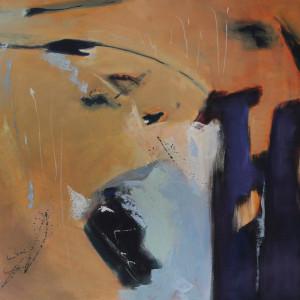 COLUMNAS,  95 x 110 cm, 37,4 x 43.3  in , oleo sobre lienzo