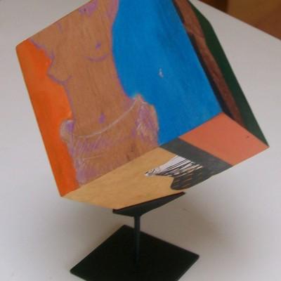 Tecnica mixta sobre madera, 15 x 15 cm.