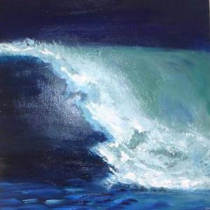 ESPUMA Y MAR V - Oleo sobre lienzo 25 x 25 cm /10 x 10 inches  sold