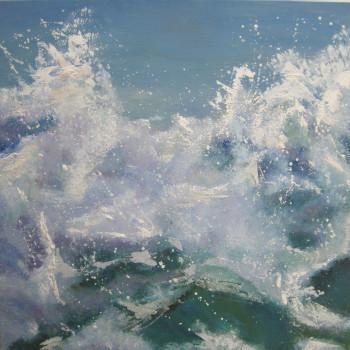 El Mar, Las Olas,Oleo sobre lienzo,50x50 cm/SOLD