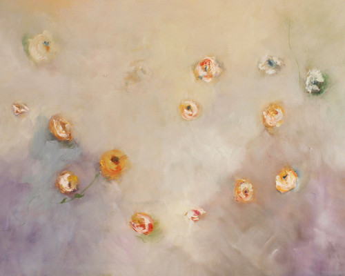 FLOWERS IN THE WIND - Oleo sobre lienzo , 80 x 60 cm - 31 x 24 in. (2)