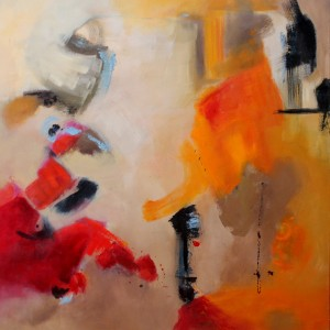 FUERZA l, 100 x 100 cm,39 x 39 in ,Oleo sobre lienzo