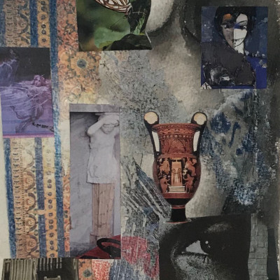 GLANCES collage 63x50 cm,25x20 In