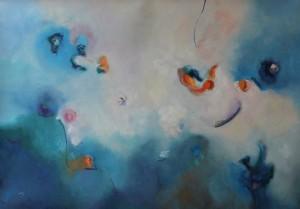 REFLEJO EN EL MAR,(NY),Oleo sobre lienzo,39 x 51 in,100 x  130 cm