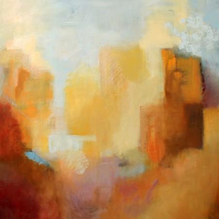 PAISAJE ARQUITECTONICO, Oleo sobre lienzo,120 x 100 cm,47.2 x 39.4 In