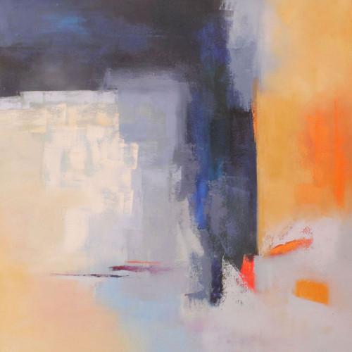 PLAYING, Oleo sobre lienzo,100 x 100 cm,39 x 39 in SOLD