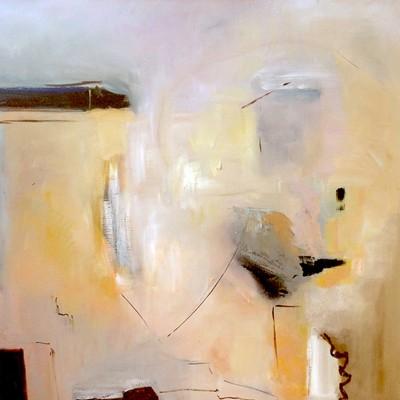 PAISAJES GRISES (NY), 100 x 100 cm , 39.4 x 39.4 pulg, oleo sobre lienzo