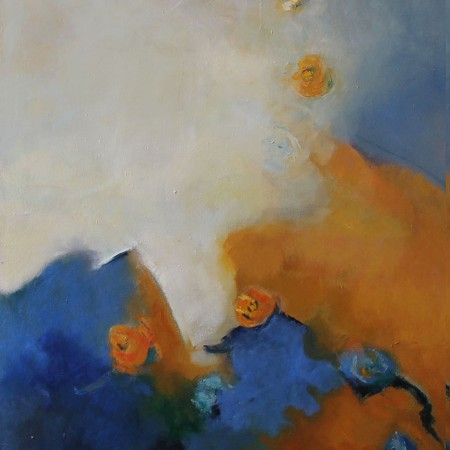 QUIETUD ll , diptico, Oleo sobre lienzo,100 x 80 cm, 39x32 inches