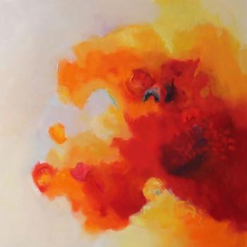 REFLEJOS FLORALES l ,diptico,Oleo sobre lienzo,100x100 cm, 39x39 in