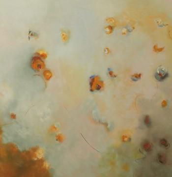 SKY IN SPRING  (NY) Oleo en lienzo, 120x 150 cm,47 x 59 in