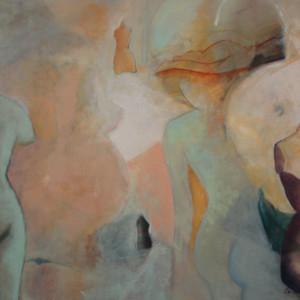 Tiempos femeninos 150 x 120 cm -59 x 47 in ,Oleo sobre lienzo