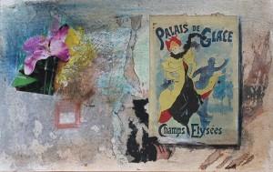 PARIS,tecnica mixta sobre papel  26 x 36 cm