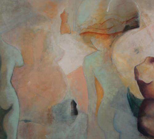 TIEMPOS FEMENINOS 150 x 120 cm -59 x 47 in.,oleo sobre lienzo