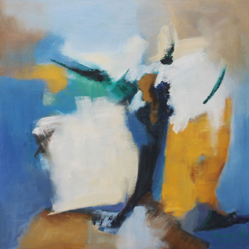 BOSQUE oleo en lienzo 90 x 90 cm