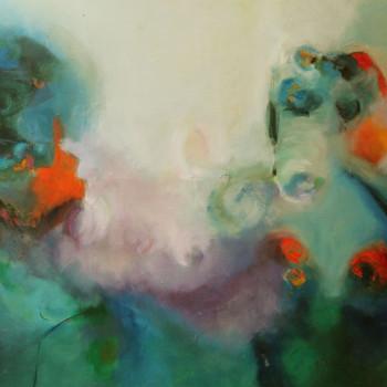 BRISA ,Oleo sobre lienzo,120x50 cm ,47x59 In