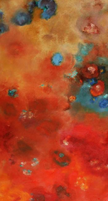 JOY II,oleo sobre lienzo,105 x 45 cm,41 x18 In