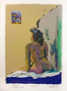 REFLEJOS ,35 x 25 cm ,Grabado Intervenido