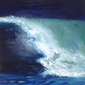 ESPUMA Y MAR V ,Oleo sobre lienzo ,25 x 25 cm