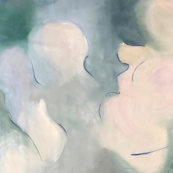 DANZAS, Oleo sobre lienzo, 95 x110 cm,37 x 43 inches